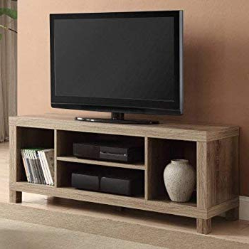 "Century Sky 60 Inch Tv Stands Intended For Well Known Amazon: We Furniture 58"" Wood Tv Stand Storage Console, Espresso (Gallery 11 of 20)"