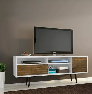 Century White 60 Inch Tv Stands Pertaining To Preferred Smart Tv Stand Small Corner 4K Entertainment Center White Curved Up (View 7 of 20)