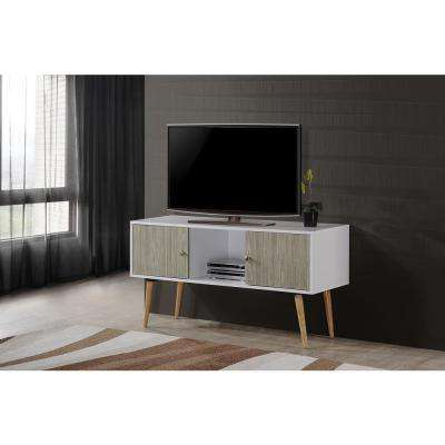 Century White 60 Inch Tv Stands Regarding Most Recent Mid Century Modern – Tv Stands – Living Room Furniture – The Home Depot (View 14 of 20)