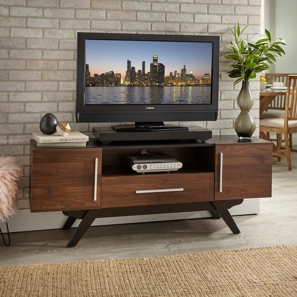 Century White 60 Inch Tv Stands Throughout Most Recently Released Shop Carson Carrington Arendal Mid Century Tv Stand – Free Shipping (View 18 of 20)