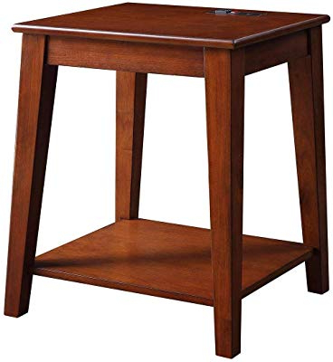 Chari Media Center Tables For Current Amazon: Leick Chair Side End Table, Medium Oak Finish: Kitchen (Gallery 9 of 20)