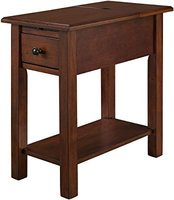 Chari Media Center Tables With Regard To Well Known Amazon: Leick Chair Side End Table, Medium Oak Finish: Kitchen (Gallery 5 of 20)