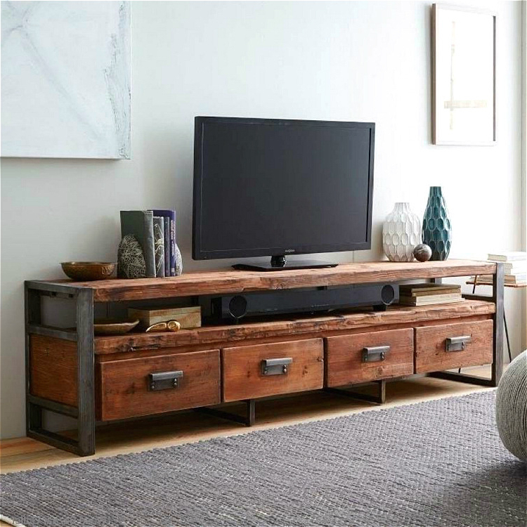 Cheap Oak Tv Stands For Famous Tv Stands: Awesome Design Cheap Wooden Tv Stands Picture 18 Inch Tv (View 3 of 20)