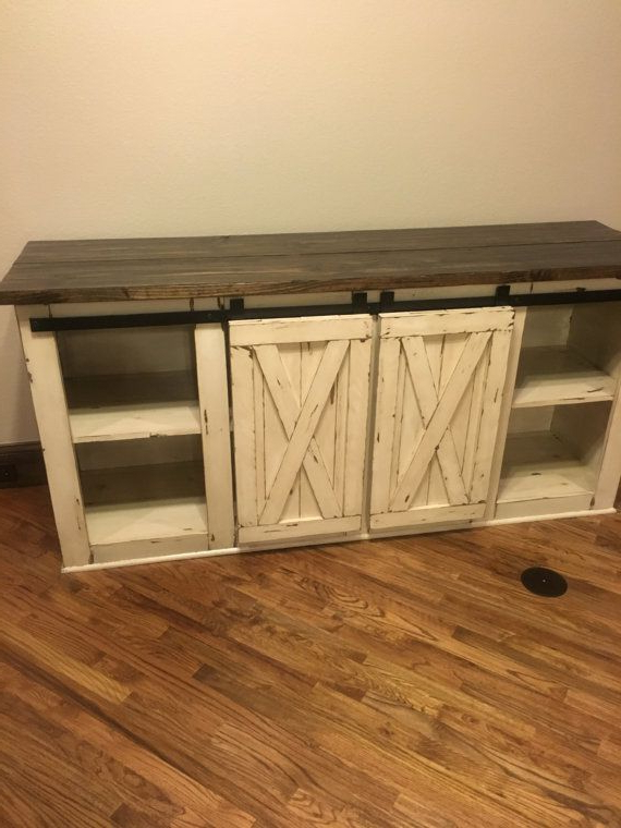 Cheap Rustic Tv Stands With Regard To Most Recent Farmhouse Tv Console Media Console Rustic Tv Standcmwoodwerks (View 7 of 20)
