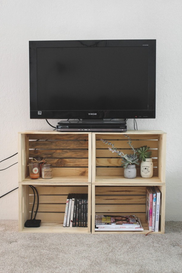 Cheap Tv Table Stands Within Current 21+ Diy Tv Stand Ideas For Your Weekend Home Project (View 14 of 20)