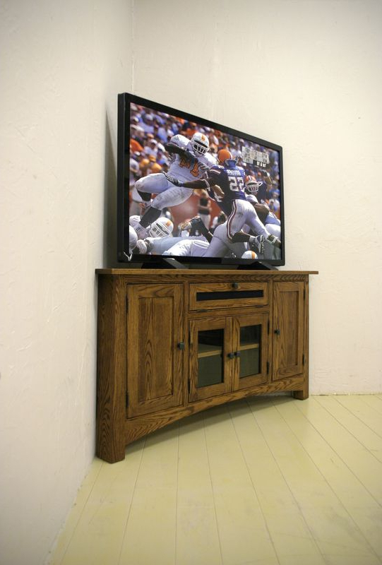 "Cherry Sierra Vista 60"" Corner Media Tv Stand Sunset (Gallery 3 of 20)"