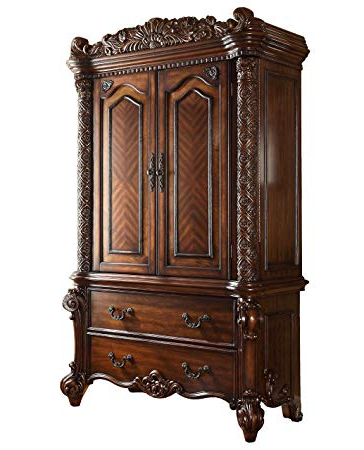 Cherry Tv Armoire In Well Known Amazon: Acme Vendome Cherry Tv Armoire: Kitchen & Dining (Gallery 16 of 20)