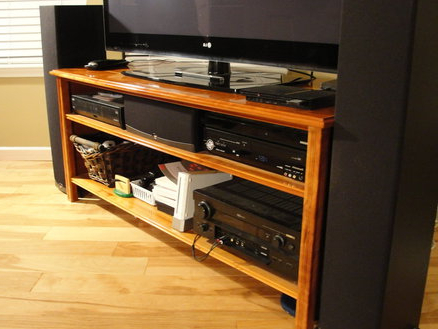 Cherry Widescreen Tv Stand Dustymark @ Lumberjocks Intended For Widely Used Wide Screen Tv Stands (View 6 of 20)
