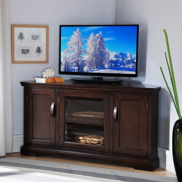 Chocolate Bronze 46 Inch Corner Tv Stand & Media Console (View 13 of 20)