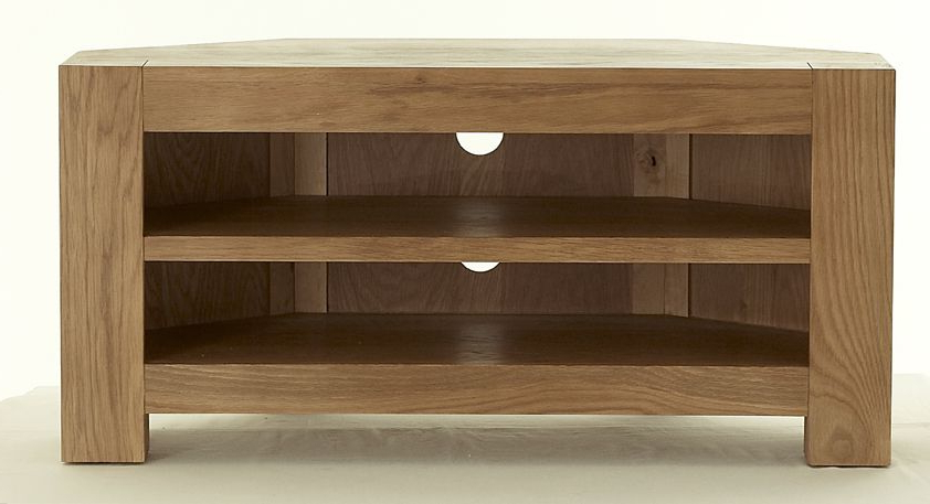 Chunky Oak Corner Tv Stand (View 1 of 20)