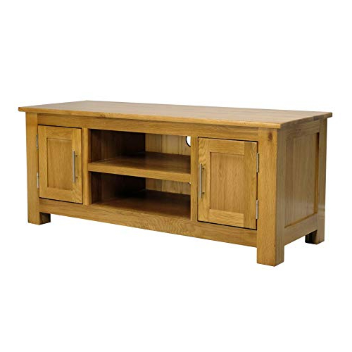 Chunky Oak Tv Units For Most Current Oak Tv Stands: Amazon.co (View 6 of 20)