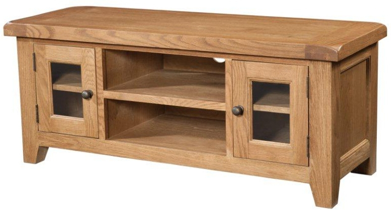 Chunky Tv Cabinets Regarding Most Current Tv Cabinets : Somerset Large Chunky Oak Tv Unitsomerset Large Chunky (View 15 of 20)