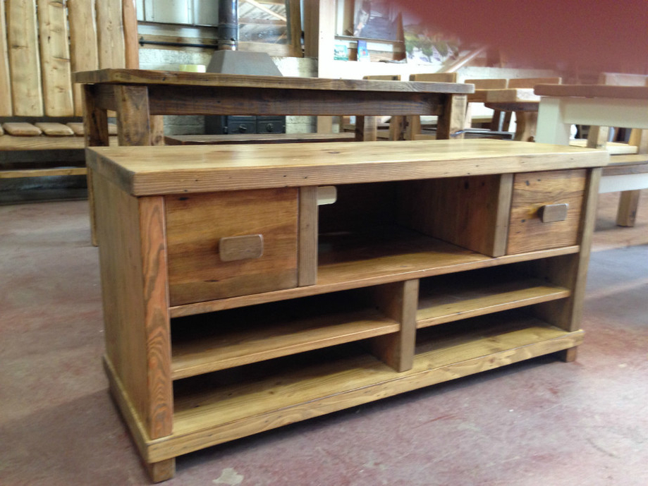 Chunky Wood Tv Units With Regard To Most Up To Date Tv Stands And Cabinets Handmadechunky Monkey Exeter (Gallery 11 of 20)