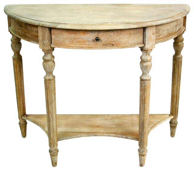 Clairemont Demilune Console Tables Within Well Known Demilune Console Table Ethan Allen Amazing Stylish Antique (View 9 of 20)