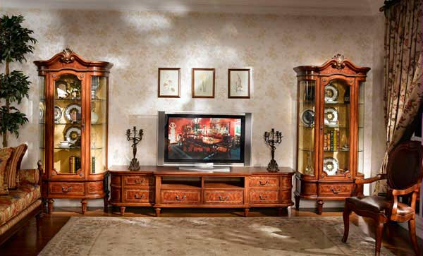 Classic Entertainment Collection Louis Xvi Tv Stand (View 3 of 20)