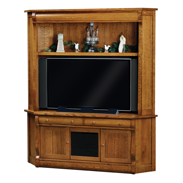Classic Tv Cabinets Within 2017 Old Classic Sleigh Corner Tv Cabinet (View 4 of 20)
