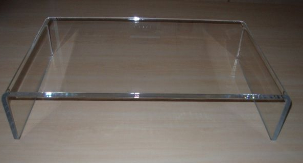 Clear Acrylic Tv Stand Or Pc Monitor Riser – Acrylic Display For Famous Clear Acrylic Tv Stands (View 6 of 20)