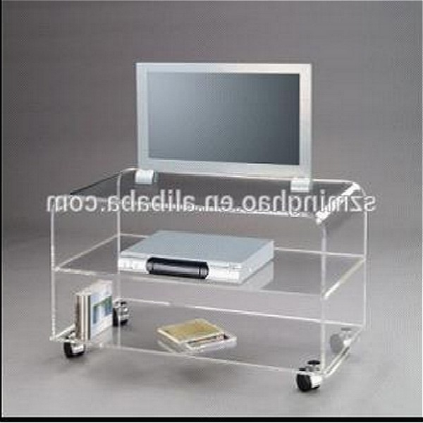 Clear Acrylic Tv Stands With Regard To Latest Hot Sell Clear Acrylic Living Room Furniture Tv Stands – Buy Acrylic (View 11 of 20)
