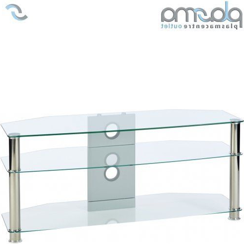 "Clear Glass Tv Stand For Trendy Mmt Cl1150 Clear Glass Tv Stand For Up To 50"" (View 18 of 20)"