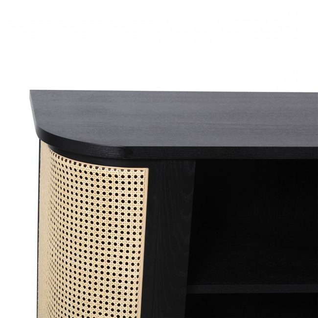 Clickon Furniture Within Popular Natural Cane Media Console Tables (View 9 of 20)