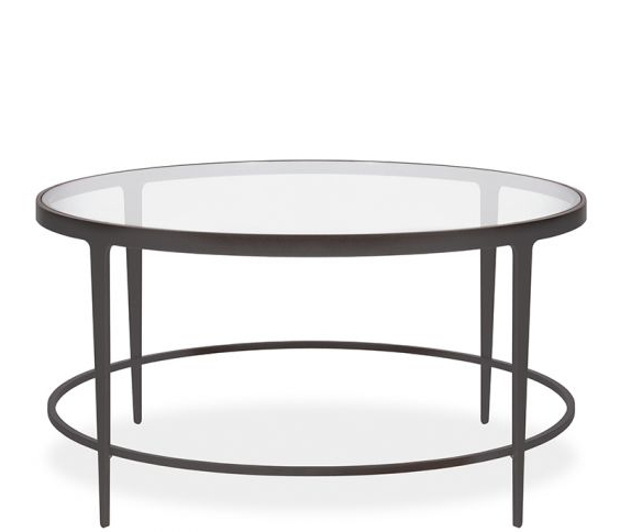 Clooney Round Coffee Table – Gunmetal Throughout Newest Gunmetal Media Console Tables (View 4 of 20)