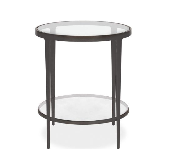 Clooney Round Side Table – Gunmetal For Most Current Gunmetal Media Console Tables (View 5 of 20)