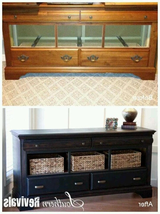 Closets With Tv Stands With Baskets (Gallery 12 of 20)