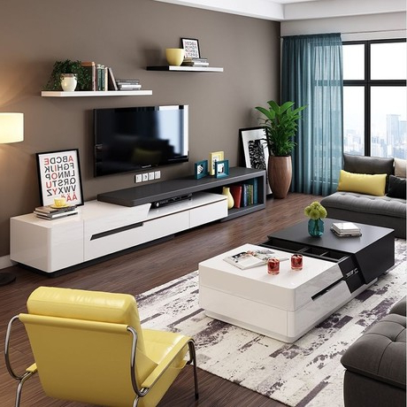 Coffee Tables And Tv Stands Intended For Fashionable Living Room Set Living Room Furniture Home Furniture Wooden Panel (View 5 of 20)