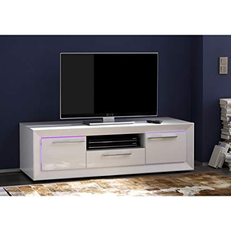 Comet Tv Stands For Well Known Tv Stand Cabinet Lacquered 288L Comet Light White: Amazon.co.uk (Gallery 11 of 20)