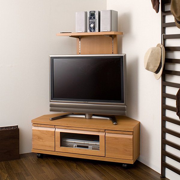 Compact Corner Tv Stands Throughout Most Recently Released Huonest: Tv Stand Corner Type Completed Triangle With Back Panel (View 9 of 20)