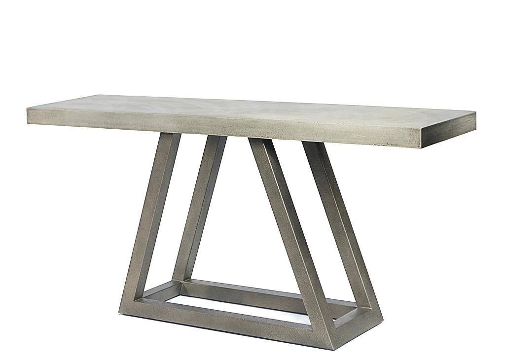 Concrete Top Console Table Imposing Parsons Dark Steel Base 48X16 Regarding Most Current Parsons Concrete Top & Brass Base 48X16 Console Tables (View 5 of 20)