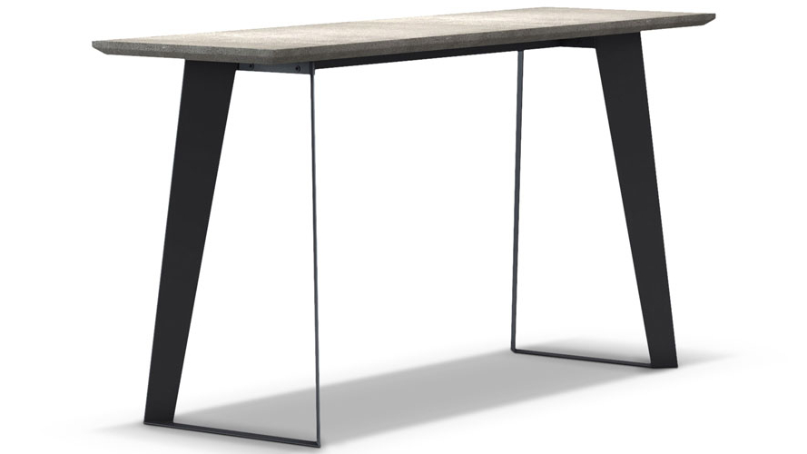 Concrete Top Console Table Monumental Parsons Dark Steel Base 48X16 In Recent Parsons White Marble Top & Stainless Steel Base 48X16 Console Tables (View 5 of 20)