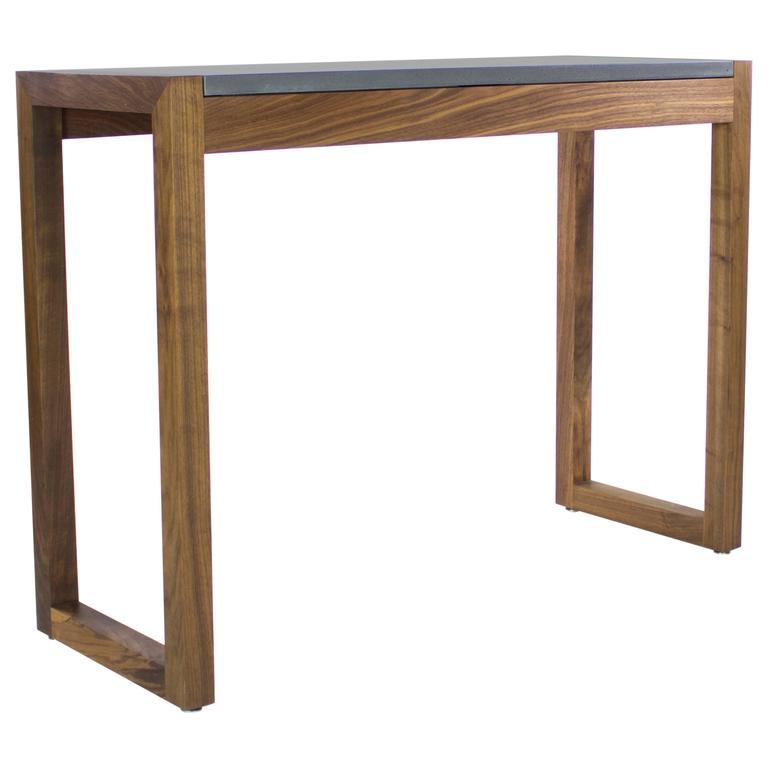 Concrete Top Console Table Stunning Parsons Dark Steel Base 48x16 In Widely Used Parsons Walnut Top & Dark Steel Base 48x16 Console Tables (View 12 of 20)
