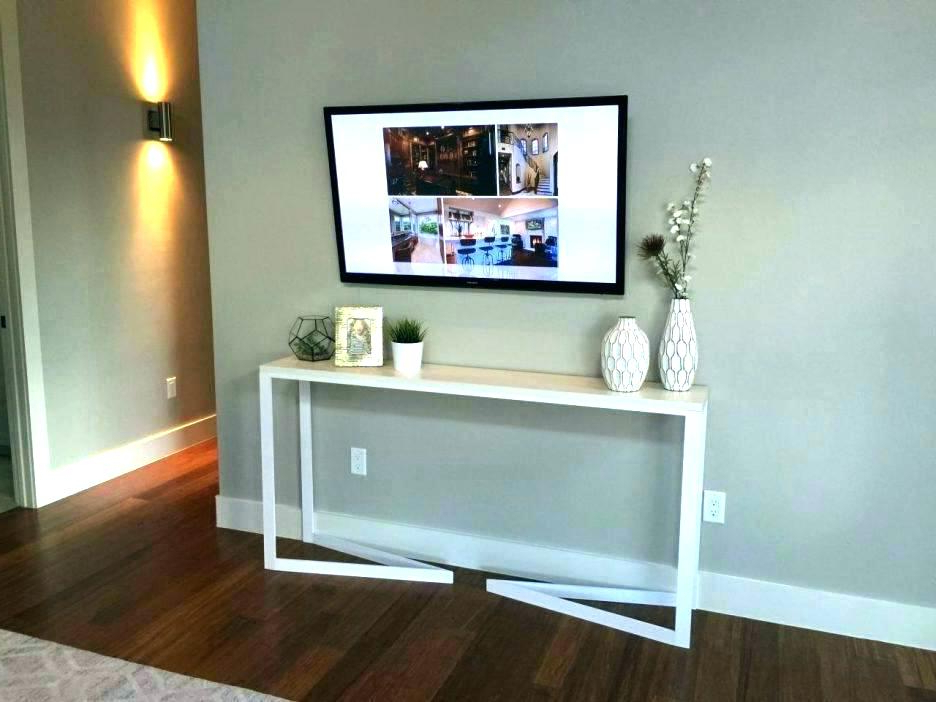 Console Tables Under Wall Mounted Tv Intended For Latest Furniture Under Wall Mounted Tv Console Table For Wall Mounted (View 5 of 20)