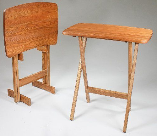 Contemporary Folding Tv Tray Table Set Of 2Manchester Wood Within Most Up To Date Folding Tv Trays (View 19 of 20)