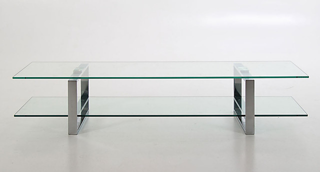 Contemporary Glass Tv Stands Inside Most Popular Solera Glass Tv Table – Contemporary – Entertainment Centers And Tv (View 3 of 20)