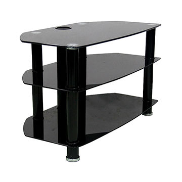 Contemporary Glass Tv Stands Intended For Widely Used China Black Modern Glass Tv Stand Lcd Tv Cart Stand Za002e On Global (View 16 of 20)