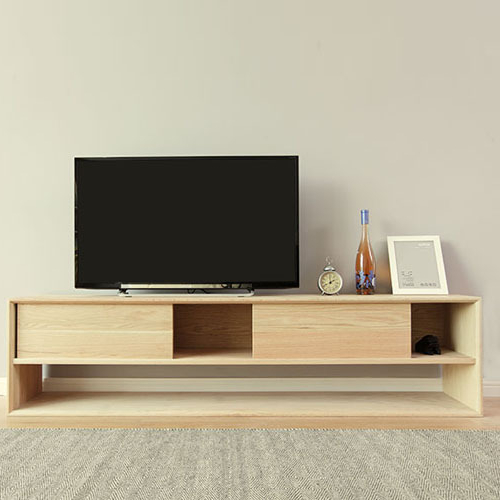 Contemporary Oak Tv Cabinets With Recent Oak Tv Cabinet Modern Minimalist Wood Cabinets With Doors Locker (View 8 of 20)