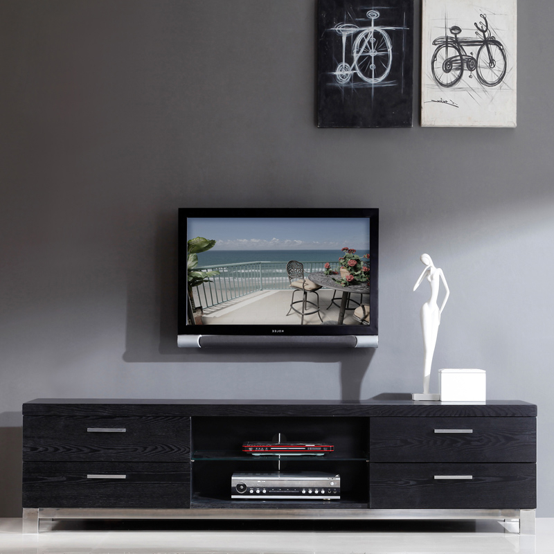 Contemporary Tv Stands Black — All Contemporary Design : All Regarding Well Known Modern Style Tv Stands (View 2 of 20)