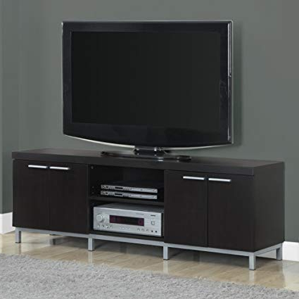 Contemporary Tv Stands For Flat Screens Intended For Best And Newest Amazon: Contemporary Tv Stands For Flat Screens Cappuccino (View 9 of 20)