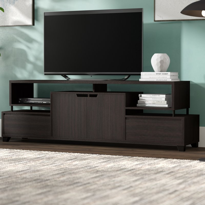 Contemporary Tv Stands For Flat Screens Throughout Most Popular Brayden Studio Pellerin Contemporary Tv Stand For Tvs Up To  (View 10 of 20)