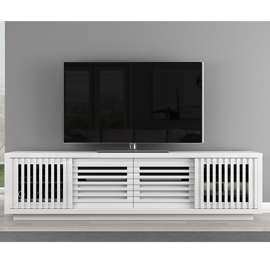 """Contemporary Tv Stands For Flat Screens With Regard To Fashionable Furnitech Ft82Wslw Contemporary Tv Stand Console Up To 90"""" Tvs In (View 12 of 20)"""