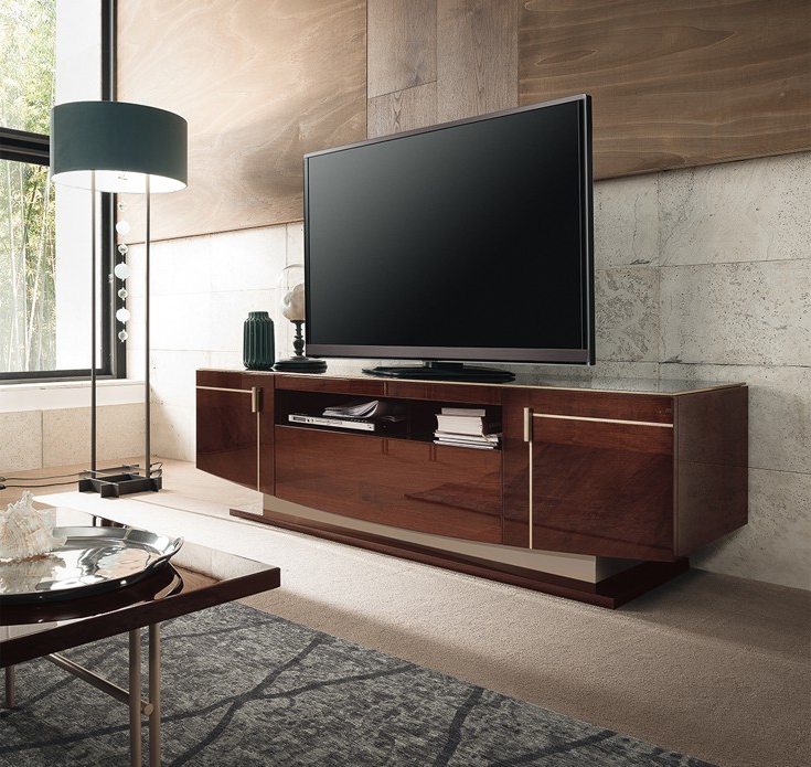 Contemporary Tv Stands Regarding Well Known Alf Contemporary Tv Stand Bellagio (View 7 of 20)