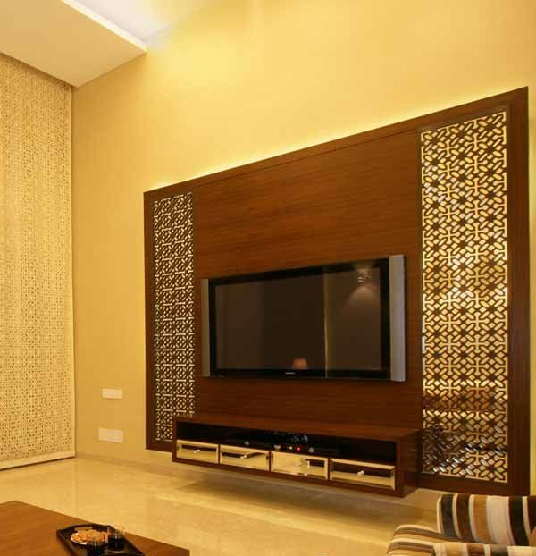 Contemporary Tv Wall Units For Latest Contemporary Tv Units With Cnc Decorating Ideas (View 7 of 20)