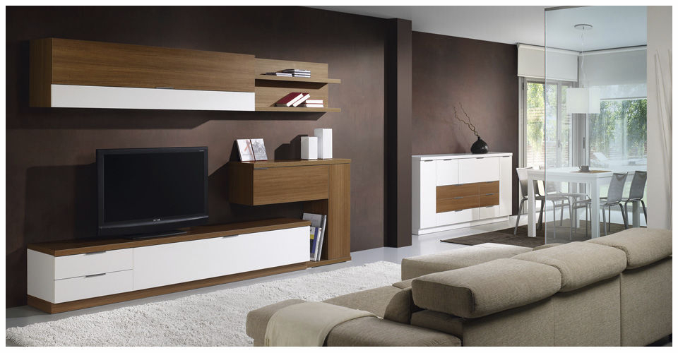 Contemporary Tv Wall Units In Current Contemporary Tv Wall Unit / Wooden – L500 : 9510 – Baixmoduls – Videos (View 9 of 20)