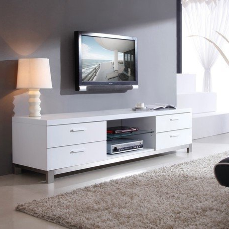 Contemporary White Tv Stand – Ideas On Foter Within Popular Contemporary White Tv Stands (View 3 of 20)