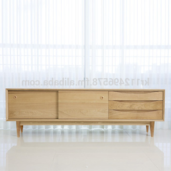 Contemporary Wood Tv Stands Within Popular Scandinavian And Contemporary Modern Oak Tv Stand Credenza – Buy (Gallery 8 of 20)