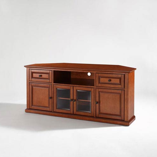 Corner 60 Inch Tv Stands Intended For Favorite Crosley Furniture 60 Inch Corner Tv Stand In Classic Cherry (Gallery 8 of 20)