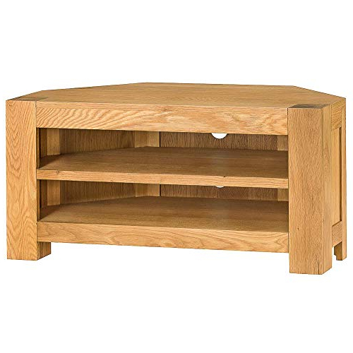 Corner Oak Tv Units: Amazon.co.uk With Regard To Preferred Chunky Oak Tv Units (Gallery 15 of 20)