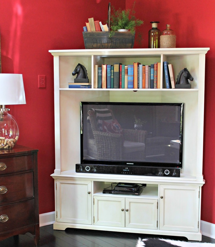 Corner Tv Cabinets For Flat Screens Intended For Popular Corner Media Cabinet Flat Screen Tv (Gallery 10 of 20)